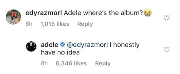 Adele Instagram