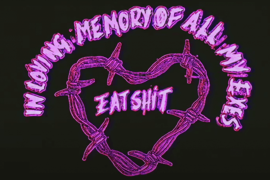 Miley Cyrus In Loving Memory Eat Shit